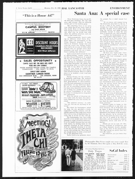 SoCal, Vol. 59, No. 73, February 19, 1968