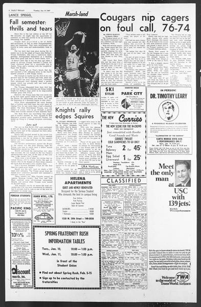 Daily Trojan, Vol. 58, No. 63, January 10, 1967