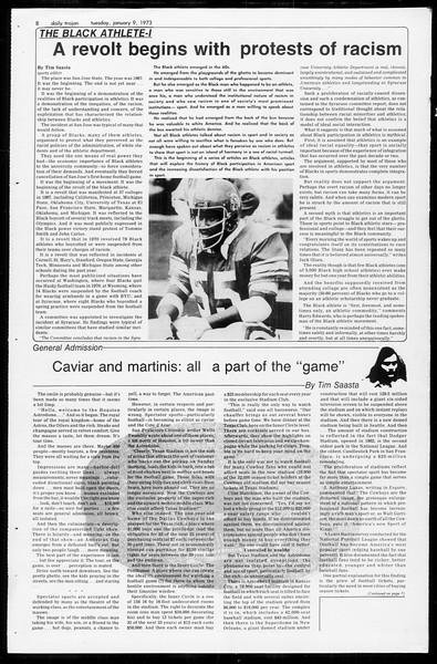 Daily Trojan, Vol. 65, No. 62, January 09, 1973
