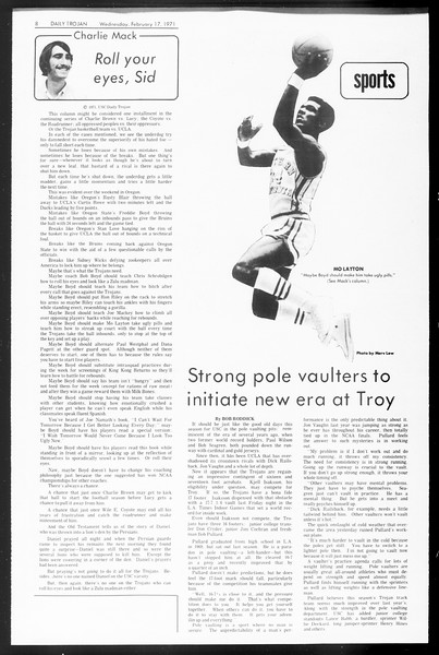 Daily Trojan, Vol. 62, No. 70, February 17, 1971