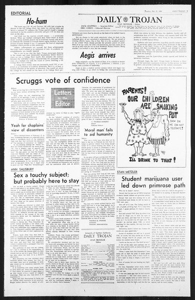 Daily Trojan, Vol. 59, No. 79, February 27, 1968