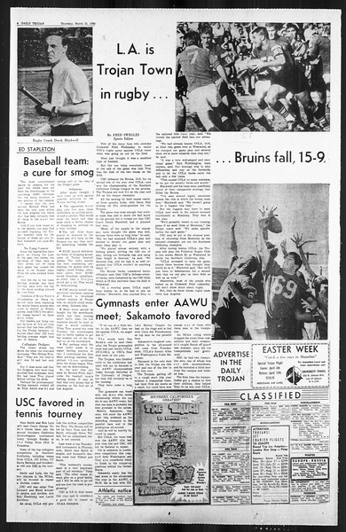Daily Trojan, Vol. 59, No. 95, March 21, 1968