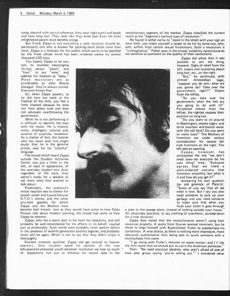 SoCal, Vol. 60, No. 81, March 03, 1969