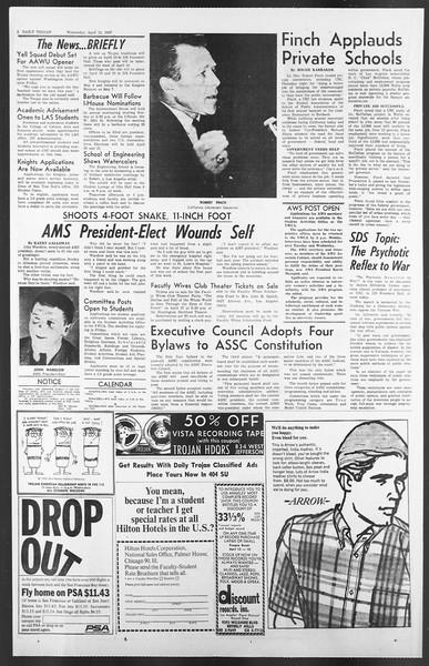Daily Trojan, Vol. 58, No. 103, April 12, 1967