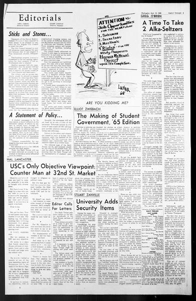 Daily Trojan, Vol. 57, No. 3, September 22, 1965