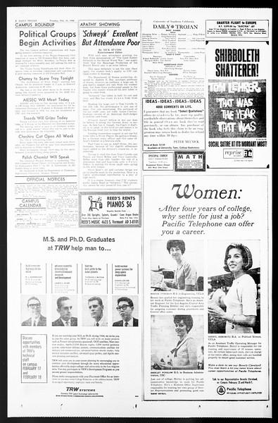 Daily Trojan, Vol. 57, No. 68, February 15, 1966
