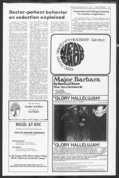 Daily Trojan, Vol. 64, No. 1, September 15, 1971