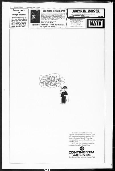 Daily Trojan, Vol. 60, No. 118, May 07, 1969