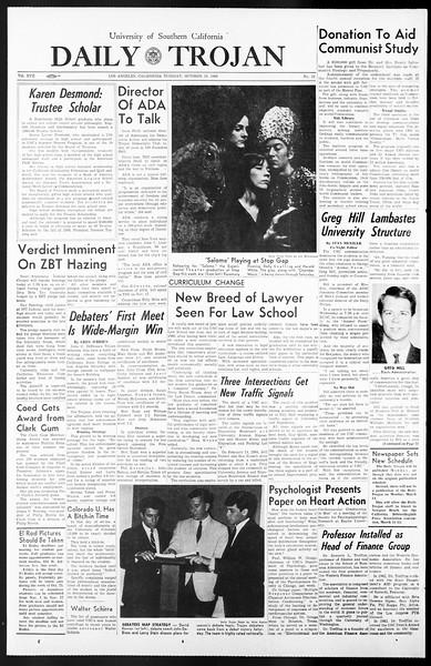 Daily Trojan, Vol. 57, No. 22, October 19, 1965
