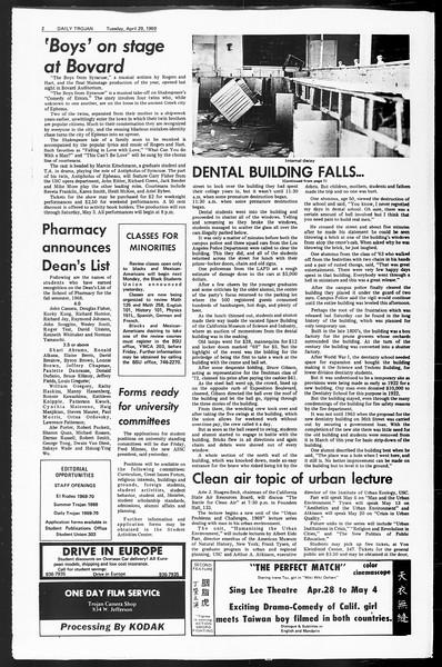 Daily Trojan, Vol. 60, No. 112, April 29, 1969