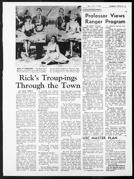 Summer Trojan, Vol. 15, No. 5, July 07, 1965