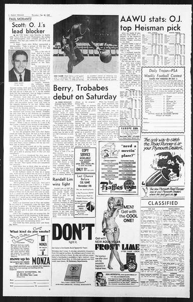 Daily Trojan, Vol. 59, No. 28, October 26, 1967