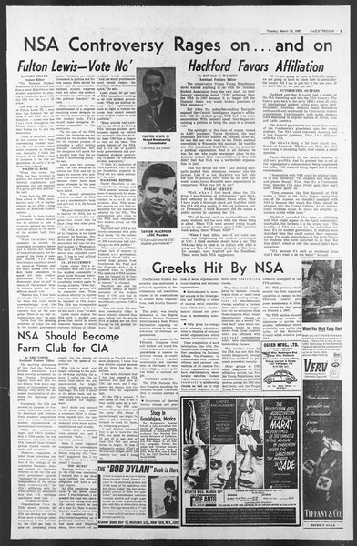 Daily Trojan, Vol. 58, No. 89, March 14, 1967