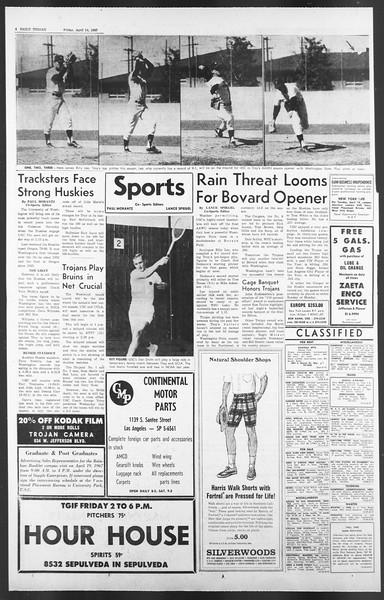 Daily Trojan, Vol. 58, No. 105, April 14, 1967