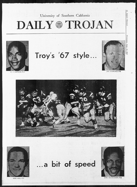 Daily Trojan, Vol. 59, No. 1, September 13, 1967
