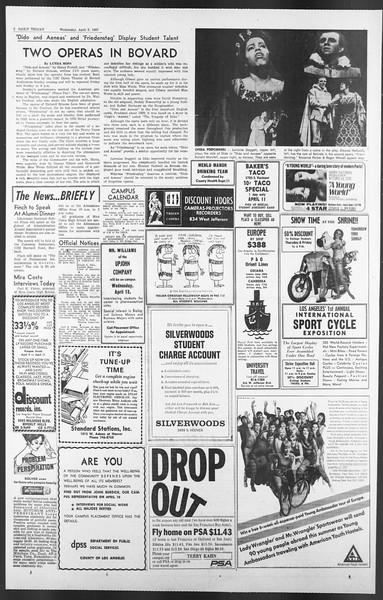 Daily Trojan, Vol. 58, No. 99, April 05, 1967