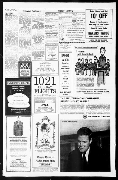 Daily Trojan, Vol. 55, No. 57, December 17, 1963