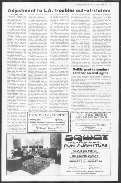Daily Trojan, Vol. 64, No. 56, January 04, 1972