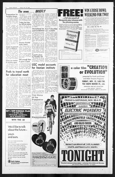 Daily Trojan, Vol. 59, No. 38, November 10, 1967