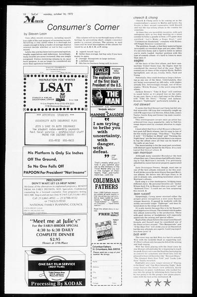 SoCal, Vol. 65, No. 19, October 16, 1972
