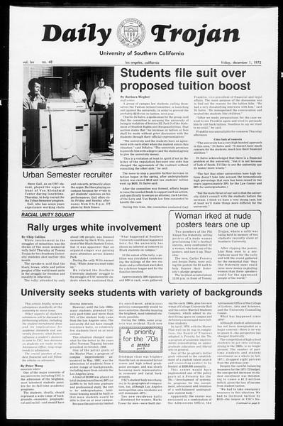 Daily Trojan, Vol. 65, No. 48, December 01, 1972