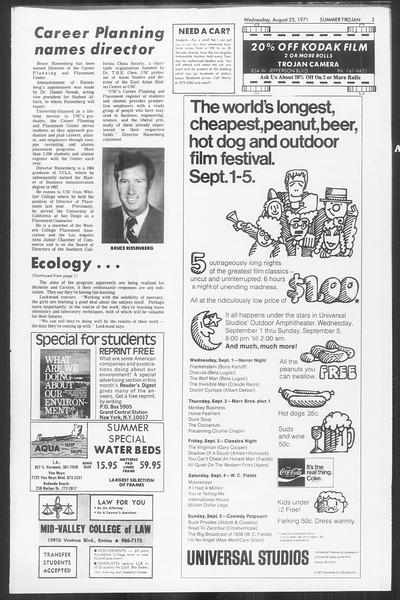 Summer Trojan, Vol. 63, No. 16, August 25, 1971
