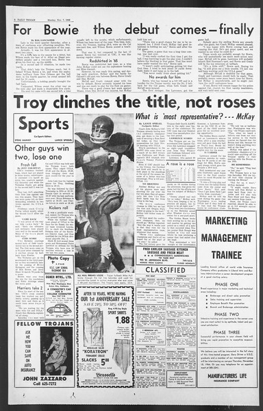 Daily Trojan, Vol. 58, No. 35, November 07, 1966
