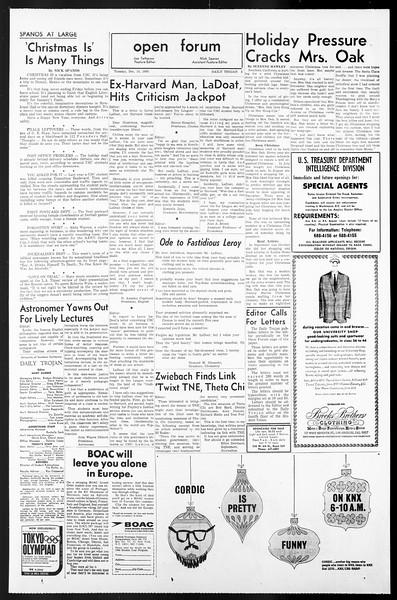 Daily Trojan, Vol. 57, No. 57, December 14, 1965