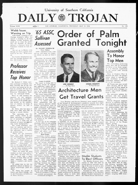 Daily Trojan, Vol. 57, No. 123, May 19, 1966