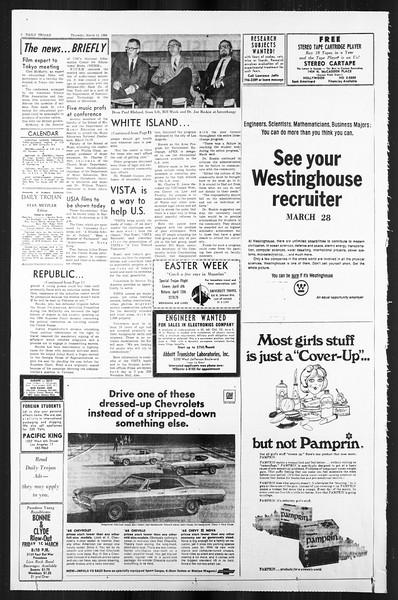 Daily Trojan, Vol. 59, No. 90, March 14, 1968
