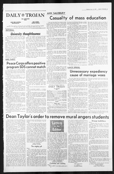 Daily Trojan, Vol. 59, No. 55, December 11, 1967
