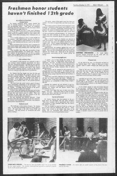 Daily Trojan, Vol. 64, No. 11, October 05, 1971