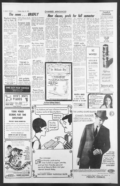 Daily Trojan, Vol. 58, No. 2, September 20, 1966