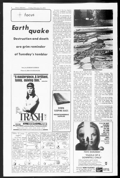 Daily Trojan, Vol. 62, No. 68, February 12, 1971