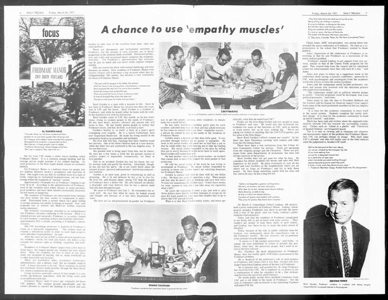 Daily Trojan, Vol. 62, No. 97, March 26, 1971