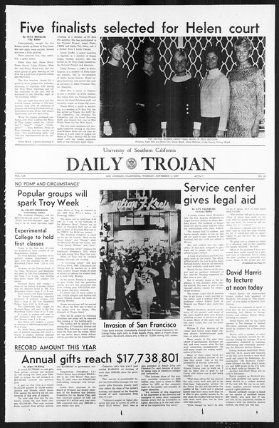 Daily Trojan, Vol. 59, No. 35, November 07, 1967