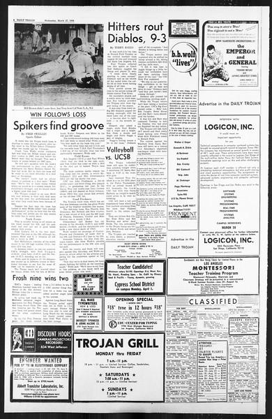 Daily Trojan, Vol. 59, No. 99, March 27, 1968
