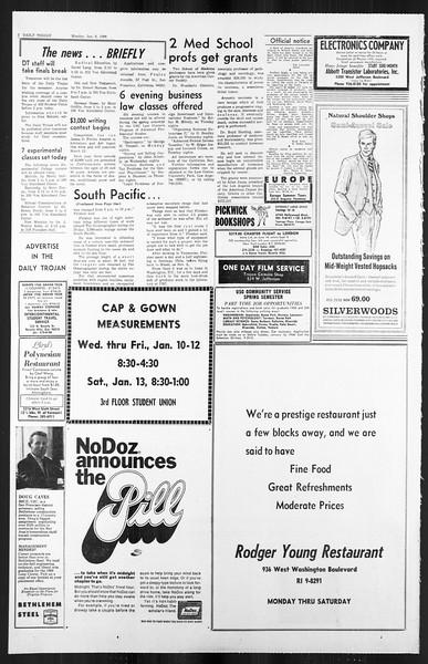 Daily Trojan, Vol. 59, No. 61, January 08, 1968