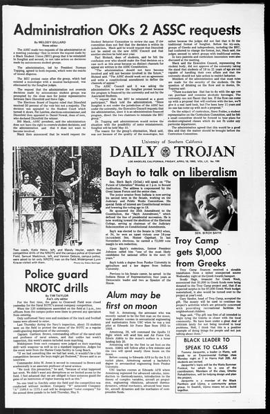 Daily Trojan, Vol. 60, No. 106, April 18, 1969