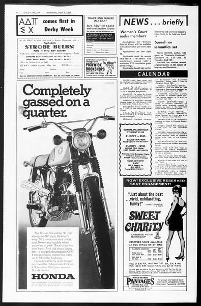 Daily Trojan, Vol. 60, No. 101, April 09, 1969