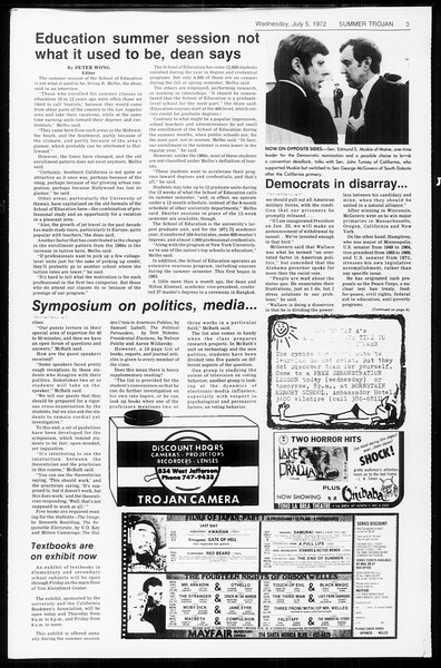 Summer Trojan, Vol. 65, No. 7, July 05, 1972