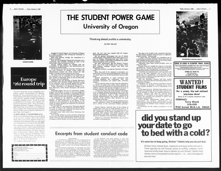Daily Trojan, Vol. 60, No. 66, February 07, 1969