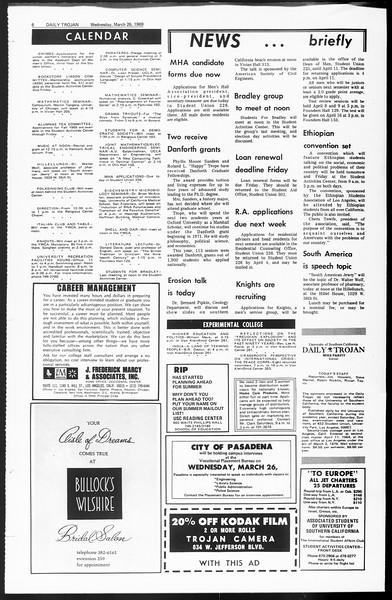 Daily Trojan, Vol. 60, No. 98, March 26, 1969