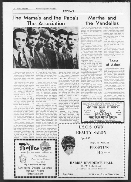 Daily Trojan, Vol. 58, No. 1, September 13, 1966