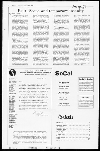 SoCal, Vol. 65, No. 28, October 30, 1972