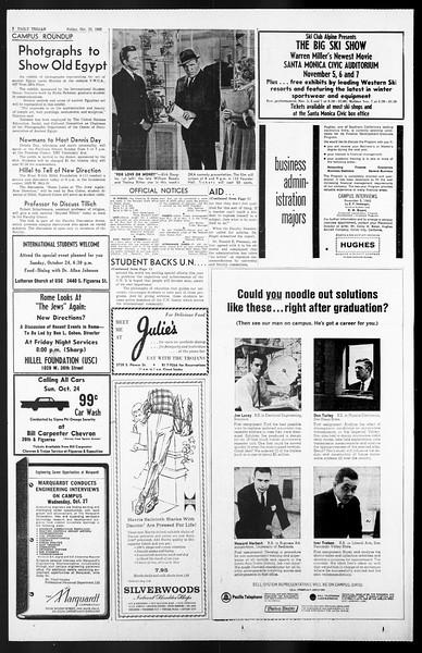 Daily Trojan, Vol. 57, No. 25, October 22, 1965