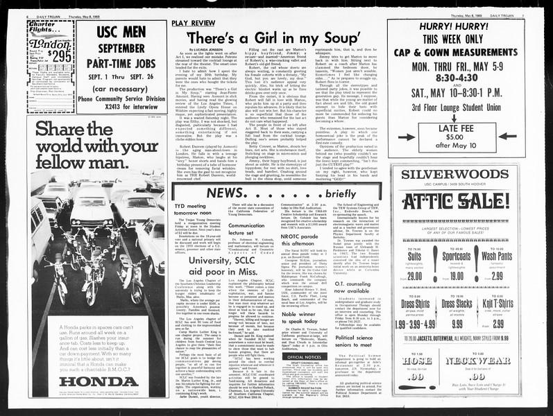Daily Trojan, Vol. 60, No. 119, May 08, 1969