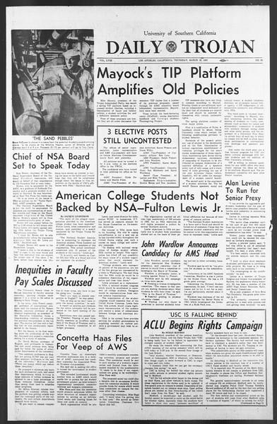Daily Trojan, Vol. 58, No. 91, March 16, 1967