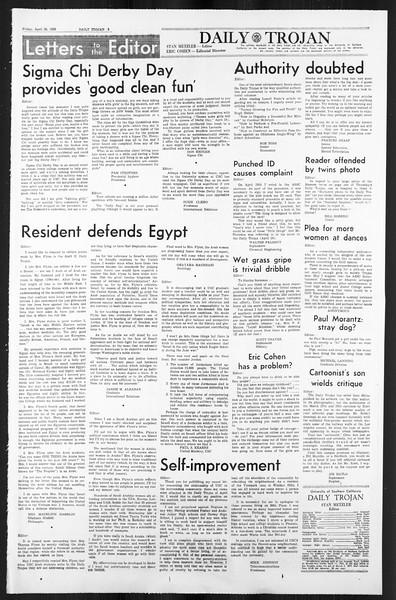 Daily Trojan, Vol. 59, No. 113, April 26, 1968