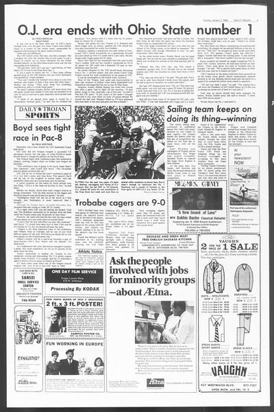 Daily Trojan, Vol. 60, No. 58, January 07, 1969
